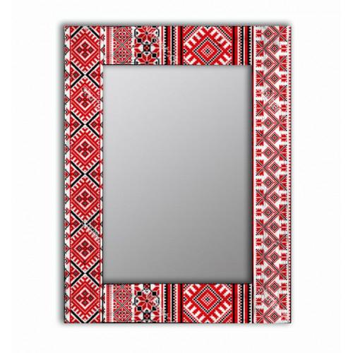 Настенное зеркало в раме Красная заря