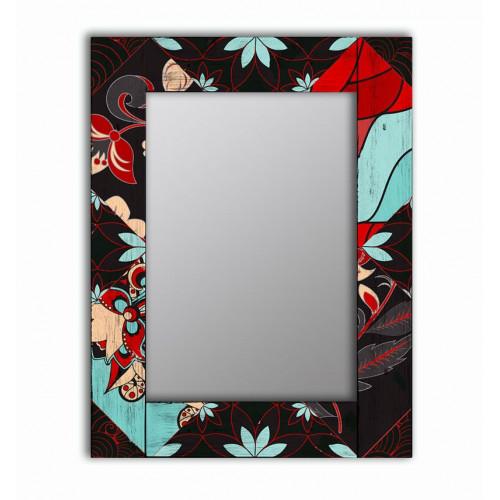 Настенное зеркало в раме Весенние цветы