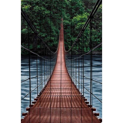 Картина на дереве Мост в джунгли
