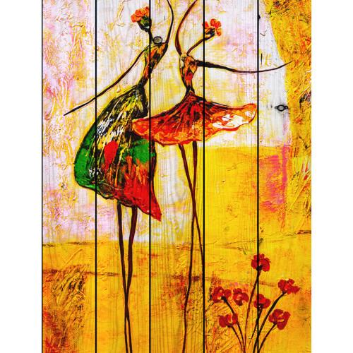 Картина на досках Танцовщицы
