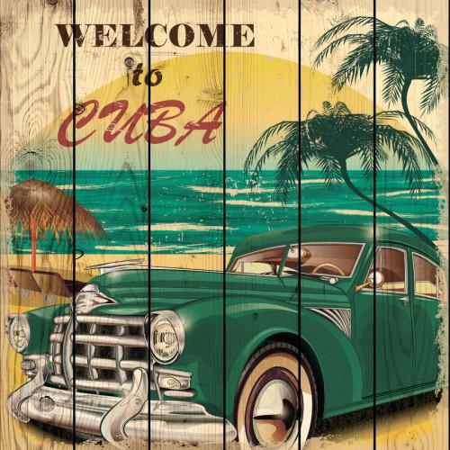 Картина на дереве Куба