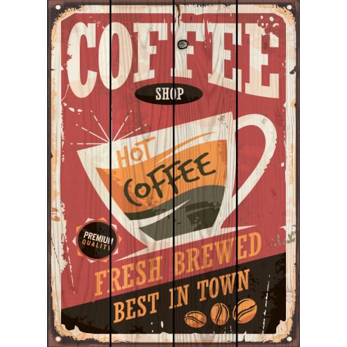 Картина на досках Кофейный магазин
