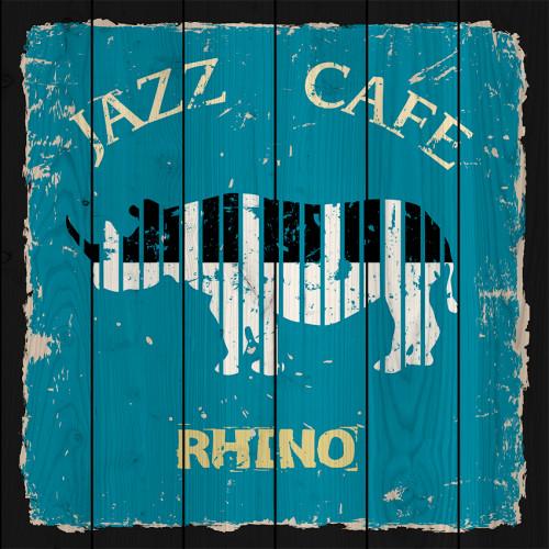 Картина на дереве Джаз кафе