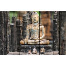Картина на дереве Будда