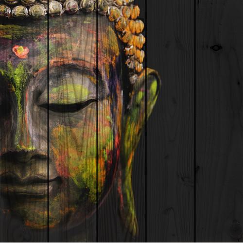 Картина на досках Лик Будды