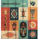 Картина на дереве Символы Африки