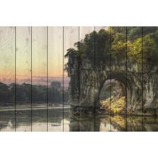 Картина на досках Белая скала