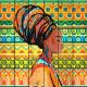 Картина на досках Африканская девушка