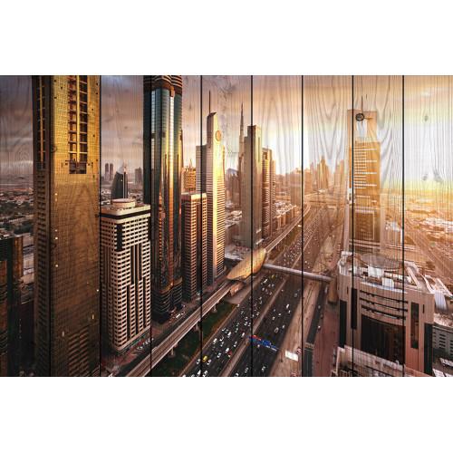 Картина на дереве ПанорамаДубая