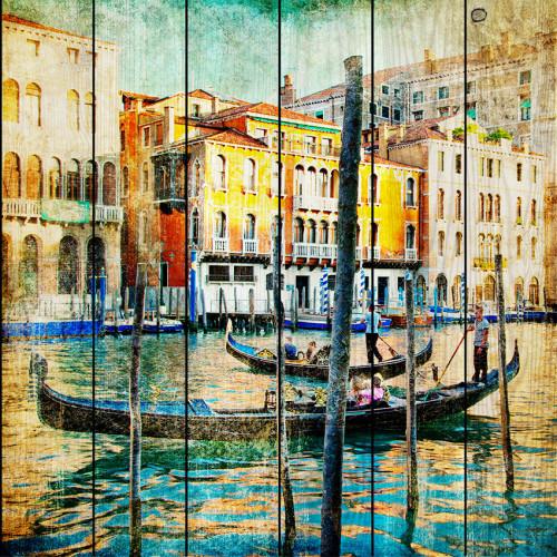 Картина на досках Венеция