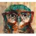Картина на досках Сова в очках