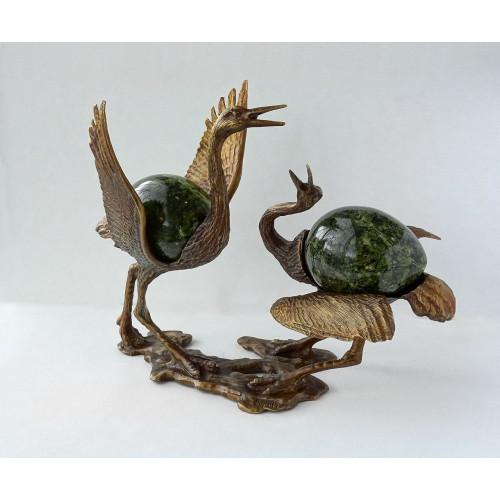 Скульптура «Танцующие журавли»