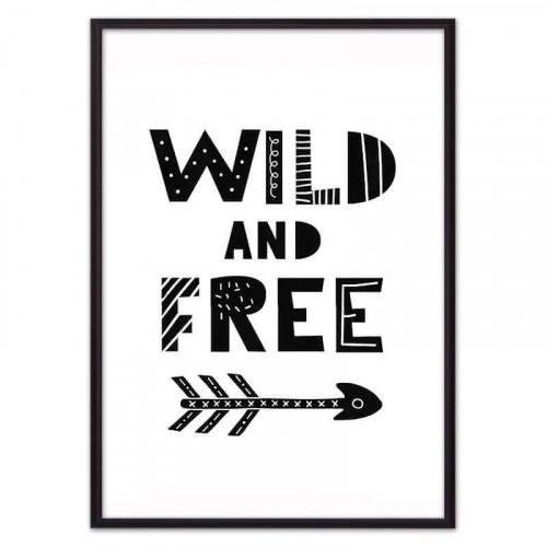 Wild & Free ЧБ (ВЫБОР РАЗМЕРА-40 х 60 см)