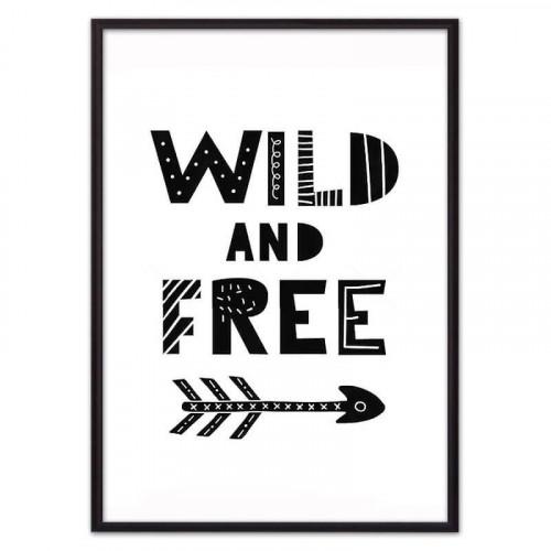 Wild & Free ЧБ (ВЫБОР РАЗМЕРА-50 х 70 см)