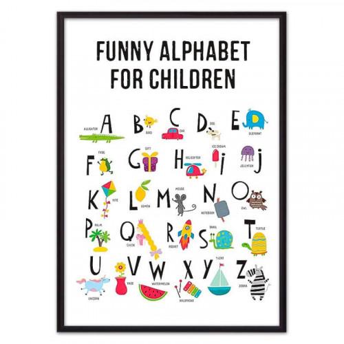 Английский алфавит (ВЫБОР РАЗМЕРА-30 х 40 см)