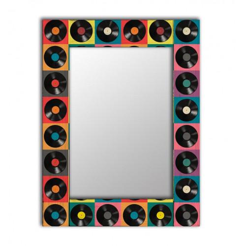 Настенное винтажное зеркало Музыка