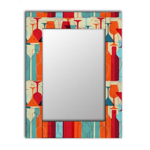 Настенное зеркало с рамой Винный квартал