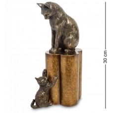"WS-883 Статуэтка ""Кошка с котенком - воспитание"""