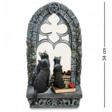 """WS-885 Статуэтка """"Кошка с котенком у зеркала"""""""